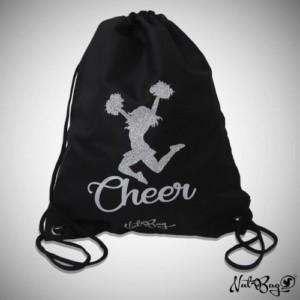 Musta jumppareppu glitter cheerleader kuviolla
