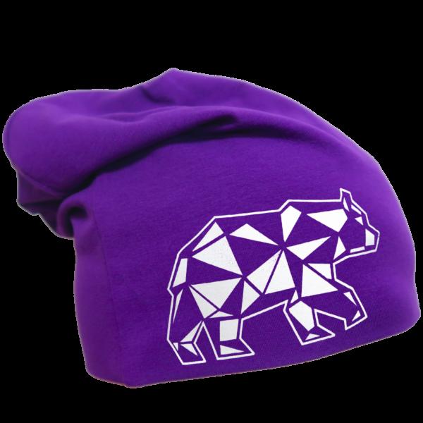 Violetti trikoopipo karhukuviolla