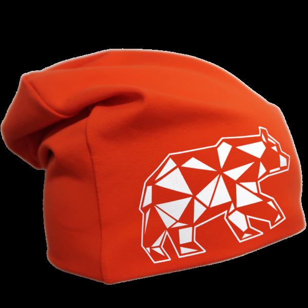 Oranssi trikoopipo karhukuviolla