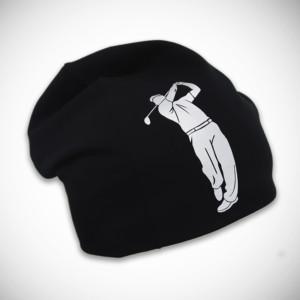 Musta pipo golf-kuvalla
