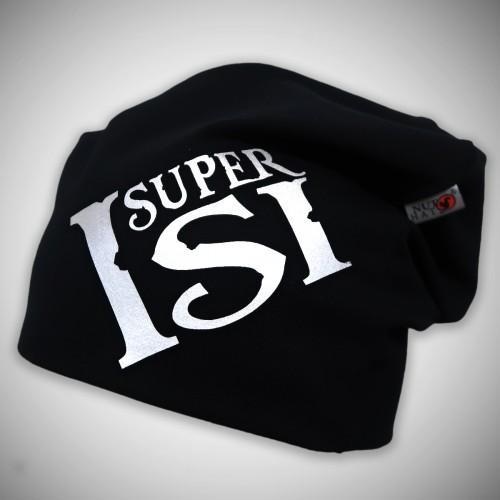 Musta trikoopipo Super-tekstillä