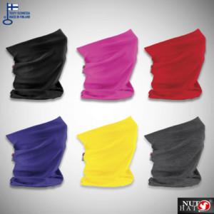 Eri värisiä tuubihuiveja