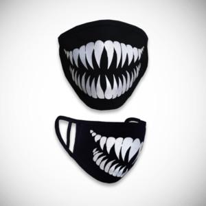 Musta kangasmaski torahammas kuviolla